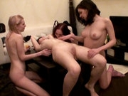 Arousing Lesbians playing together